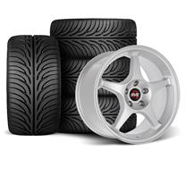 Mustang SVE 2000 Cobra R Style Wheel & Tire Kit - 18x9.5  - Silver - Z II Tires (94-04)