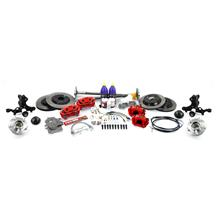 SVE Mustang 5-Lug Conversion Kit - 28 Spline  - Red (87-93)