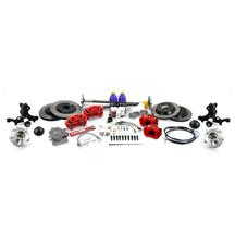 Mustang SVE 5-Lug Conversion Kit - 28 Spline  - Red (87-93)