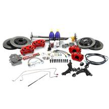 Mustang SVE 5-Lug Conversion Kit - 31 Spline  - Red (87-93)
