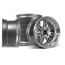 Mustang SVE Anniversary Staggered Wheel Kit - 17x9/10 Anthracite (79-93)