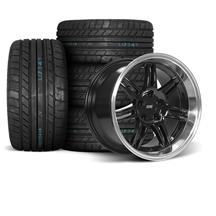 Mustang SVE Anniversary Wheel & Tire Kit - 17x9/10  - Black - M/T Tires (94-04)