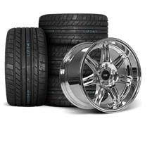 Mustang SVE Anniversary Wheel & Tire Kit - 17x9/10  - Chrome - M/T Tires (94-04)