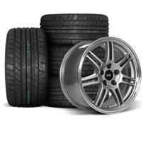 Mustang SVE Anniversary Wheel & Tire Kit - 17x9  - Anthracite - M/T Tires (94-04)
