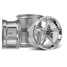Mustang SVE Cobra R Wheel Kit - 17x8/10  - Chrome  (79-93)
