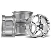Mustang SVE Cobra R Wheel Kit - 17x8  - Chrome (79-93)