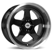 SVE Mustang Deep Dish Saleen SC Style Wheel - 17x10  - Black w/Machined Lip (79-93)