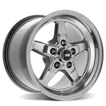 "Mustang SVE Drag ""Classic"" Wheel - 15x10  - Dark Stainless (94-04)"