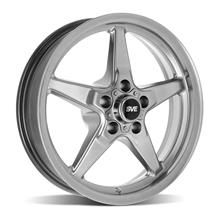 "Mustang SVE Drag ""Classic"" Wheel - 17x4.5  - Dark Stainless (94-14)"