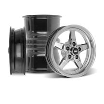 "Mustang SVE Drag ""Classic"" Wheel Kit - 15x3.75 / 15x10  - Dark Stainless (94-04)"
