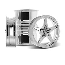 Mustang SVE Drag Wheel Kit - 17x4.5 / 15x10  - Chrome (05-14)