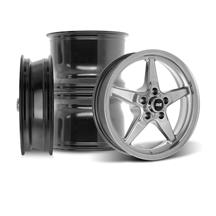 Mustang SVE Drag Wheel Kit - 17x4.5 / 15x10  - Dark Stainless (05-14)