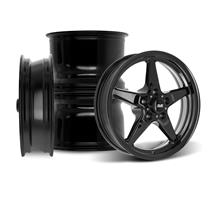 "SVE Mustang Drag ""Classic"" Wheel Kit - 17x4.5 / 15x10  - Gloss Black (94-04)"