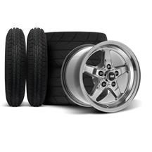 Mustang SVE Drag Wheel & Tire Kit - 15x3.75 / 15x10   - Dark Stainless  (94-04)