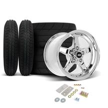 Mustang SVE Drag Wheel & Tire Kit - 15x3.75 / 15x10  - Chrome  (05-10)