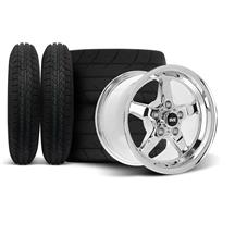Mustang SVE Drag Wheel & Tire Kit - 15x3.75 / 15x10  - Chrome  (94-04)