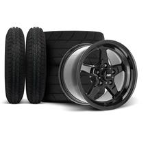"Mustang SVE Drag ""Classic"" Wheel & Tire Kit - 15x3.75 / 15x10  - Gloss Black  (94-04)"