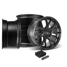 Mustang SVE Drift Wheel Kit - 19x9.5  - Flat Black (05-14)