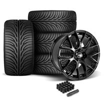 Mustang SVE Drift Wheel & Tire Kit - 18x9/10  - Gloss Black - Z II Tires (05-14)