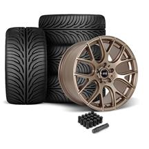 Mustang SVE Drift Wheel & Tire Kit - 18x9/10  - Satin Bronze - Z II Tires (05-14)
