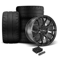 Mustang SVE Drift Wheel & Tire Kit - 19X9.5  - Flat Black (05-14)