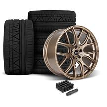 Mustang SVE Drift Wheel & Tire Kit - 19x9.5  - Satin Bronze - Nitto Invo Tires  (05-14)