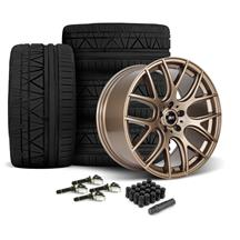 Mustang SVE Drift Wheel & Tire Kit - 19x9.5  - Satin Bronze - Nitto Invo Tires  (15-18)