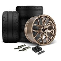 Mustang SVE Drift Wheel & Tire Kit - 19x9.5  - Satin Bronze - Nitto NT05 Tires (15-18)