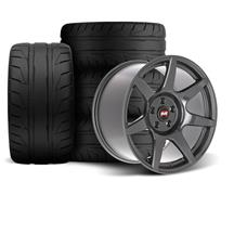 SVE Mustang R350 Wheel & Tire Kit - 18x9/10  - Liquid Graphite (94-04) Nitto NT05