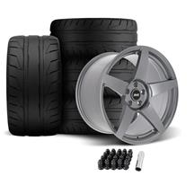 SVE Mustang R355 Wheel & Tire Kit - 19x10/11  - Titanium Grey (05-14) Nitto NT05