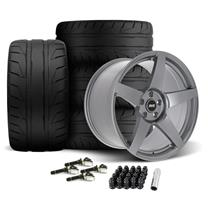 Mustang SVE R355 Wheel & Tire Kit - 19x10/11  - Titanium Grey - NT05 Tires (15-20)