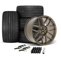 Mustang SVE R357 Wheel & Tire Kit - 19x10/11  - Satin Bronze - Cooper RS3-S Tires (15-19)