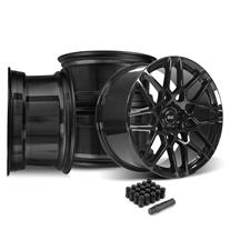 Mustang SVE S500 Wheel Kit - 20x8.5/10  - Gloss Black (15-20)