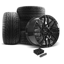 Mustang SVE S500 Wheel & Tire Kit - 20x8.5/10  - Gloss Black (05-14)