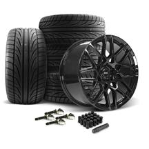 Mustang SVE S500 Wheel & Tire Kit - 20x8.5/10  - Gloss Black (15-20)