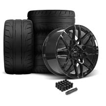 Mustang SVE S500 Wheel & Tire Kit - 20x8.5/10  - Gloss Black - 305 NT05 Tire (05-14)