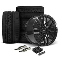 Mustang SVE S500 Wheel & Tire Kit - 20x8.5/10  - Gloss Black - 295 Invo Tire (15-19)