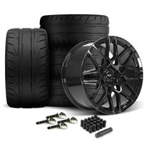 Mustang SVE S500 Wheel & Tire Kit - 20x8.5/10  - Gloss Black - 305 NT05 Tire (15-19)