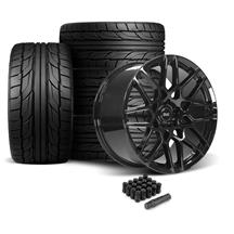 Mustang SVE S500 Wheel & Tire Kit - 20x8.5/10  - Gloss Black - NT555 G2 Tires (05-14)
