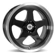 SVE Mustang Saleen SC Style Wheel - 17X8  - Black w/Machined Lip (79-93)