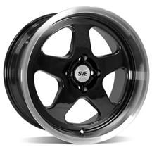 SVE Mustang Saleen SC Style Wheel - 17X9  - Black w/Machined Lip (79-93)