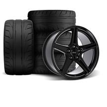 Mustang SVE Saleen Style Wheel & Tire Kit - 18x9/10 Black (94-04)