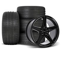 Mustang SVE Saleen Style Wheel & Tire Kit - 18x9/10  - Black (94-04)