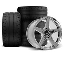 Mustang SVE Saleen Style Wheel & Tire Kit - 18x9/10 Chrome (94-04)