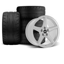 Mustang SVE Saleen Style Wheel & Tire Kit - 18x9/10 Silver (94-04)