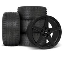 Mustang SVE Saleen Style Wheel & Tire Kit - 18x9  - Black (94-04)