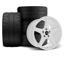Mustang SVE Saleen Style Wheel & Tire Kit - 18x9  - White (94-04)