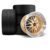 Mustang SVE Series 1 Wheel & Tire Kit - 18x9/10  - Liquid Gold (94-04)
