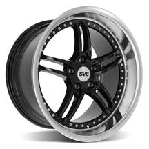 SVE Mustang Series 2 Wheel - 18x10 Black w/ Machined Lip (94-04)