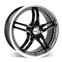 Mustang SVE Series 2 Wheel - 19x9  - Gloss Black w/ Machined Lip (05-19)